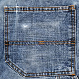 Back pocket of blue jeans Stock Images