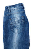 Back pocket of blue jeans Royalty Free Stock Photos