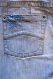 Back pocket of blue jeans Stock Image