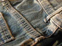 Back pocket and buckle loop stock image