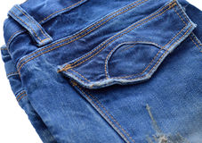 Back pocket denim. Royalty Free Stock Photos