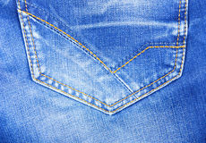 Back pocket of his jeans texture Royalty Free Stock Images