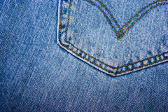 Back pocket of a jean. Picture taken to the back pocket of a jean Stock Photo