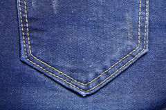 Back pocket of a jean Royalty Free Stock Images