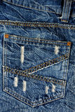 Back pocket jeans. Stock Photos