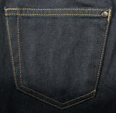 Back pocket of jeans. Royalty Free Stock Image