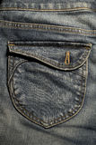 Back pocket jeans Stock Photography