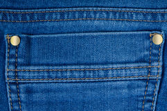 Back pocket of jeans Royalty Free Stock Image