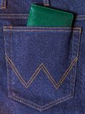 The back pocket of jeans Royalty Free Stock Photography