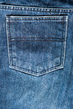 Back pocket Jeans texture Royalty Free Stock Image