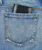 Back pocket of jeans with wallet Royalty Free Stock Images