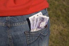 Back pocket of money Royalty Free Stock Image