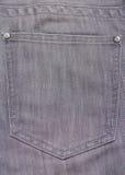 Back pocket of old grey jeans Royalty Free Stock Image