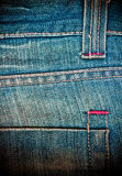 Back pocket on a pair of  jeans Stock Images