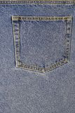Back pocket of a pair of Jeans royalty free stock images