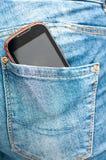 Back pocket phone stock image
