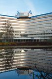 Back portrait view of the KLM Headquarters Building. Amstelveen, Netherlands - 31 October, 2015: Back view of the KLM Headquarters Building on the Amsterdamseweg Royalty Free Stock Photo