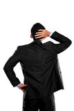 Back pose of a business person thinking Stock Photo