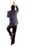 Back pose of climbing executive Royalty Free Stock Images