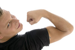 Back pose of muscular hand of man Stock Photography