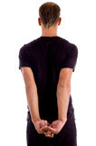 Back Pose Of Muscular Male Royalty Free Stock Photography