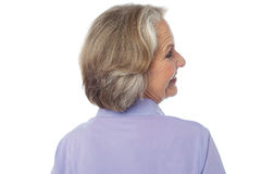 Back pose of an old lady Royalty Free Stock Photography