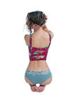 Back of Pretty Girl in Lingerie Royalty Free Stock Photo