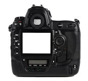 Back of Professional Digital Camera Royalty Free Stock Photo