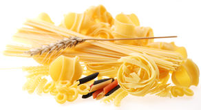 Back projected (lighted) macaroni Stock Photography