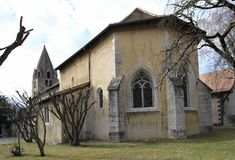 Cloister church, Aigle, Vaud, Switzerland Royalty Free Stock Photos