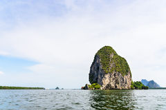 Back of Punyi Island or Koh Panyee Royalty Free Stock Image