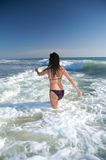 Back purple bikini woman Stock Images