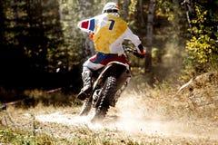 Back is racer racing sport bike Stock Photo