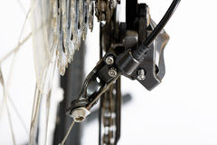 Back of rear derailleur Royalty Free Stock Images