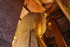 Back of Reclining Buddha (Sleep Buddha) at The Temple at Wat Pho, Bangkok Thailand Royalty Free Stock Images