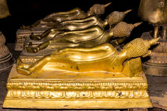 Back Reclining Buddha Statue Stock Photo