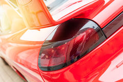Back of a red car Royalty Free Stock Photography