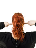 Back of a red haired woman Royalty Free Stock Photography