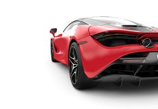 Back of a red modern sport car Royalty Free Stock Photo