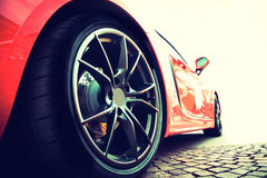 Back of a red sport car Royalty Free Stock Image