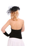 Back of a retro-styled woman Stock Photography