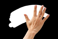 Back right hand high five, bye bye symbol Royalty Free Stock Image