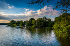 The Back River in Essex, Maryland. royalty free stock images