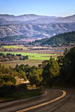 Back Road into Napa Valley, California Stock Photos
