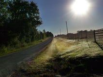 Back road, Oklahoma Royalty Free Stock Photo