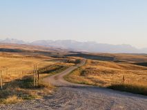 Back roads in Alberta canada. Driving dirt roads and back roads in Alberta canada Royalty Free Stock Photo