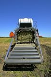 The back rollers of a new square baler Royalty Free Stock Photo