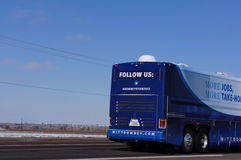 Back of Romney Campaign Bus royalty free stock images
