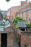 Back of a row of terraced houses Stock Image