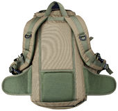 Back of rucksack. A rucksack with photoshop paths Royalty Free Stock Images